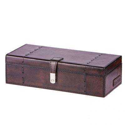 Coffret rangement 3 montres Luxe Edward, cuir de buffle Marron foncé Coffret rangement 3 montres Luxe Edward, cuir de buffle Marron foncé BALMUIR