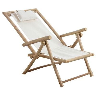Chaise Relax Pliante En Bambou AUBRY GASPARD
