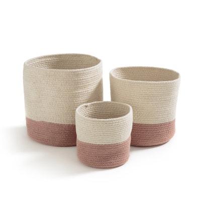 Paniers en coton (lot de 3), SOLIPOLO La Redoute Interieurs