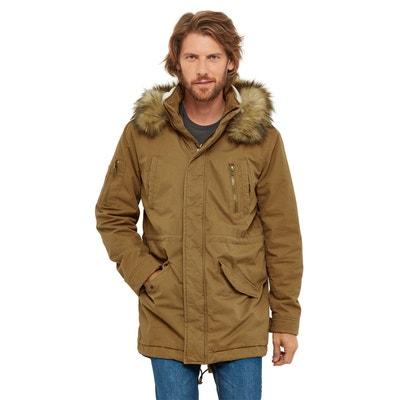 Manteau long avec capuche fourrure en solde   La Redoute 65ac0da42125