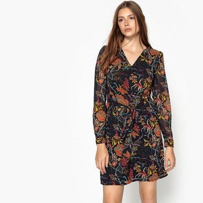 27bfecf5aee95 Robe imprimé floral, nouée à la taille SEE U SOON
