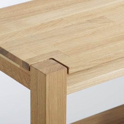 ADELITA  Oiled Solid Oak Console Table La Redoute Interieurs