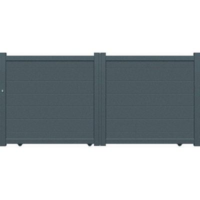 "Portail aluminium coulissant - ""Coruna"" - 3,75m - Gris Portail aluminium coulissant - ""Coruna"" - 3,75m - Gris HABITAT ET JARDIN"