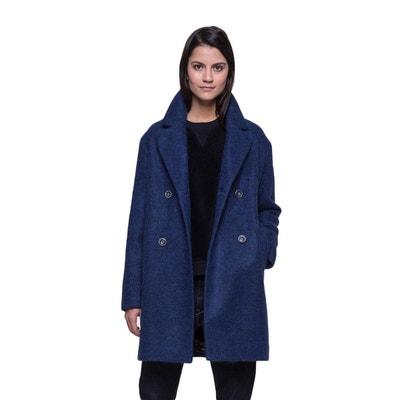 Manteau avec emmanchures basses en laine et alpaga Manteau avec emmanchures basses en laine et alpaga TRENCH AND COAT