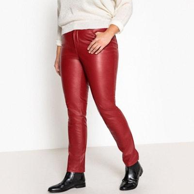 Pantalon 5 poches slim en simili Pantalon 5 poches slim en simili CASTALUNA