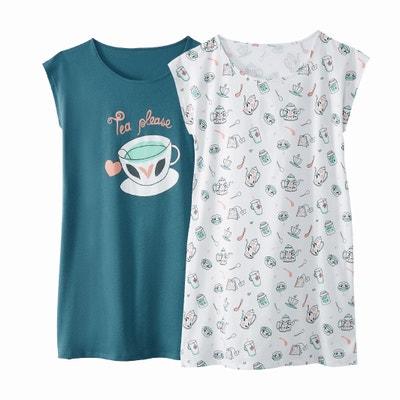 Lote de 2 camisas de dormir Lote de 2 camisas de dormir La Redoute Collections