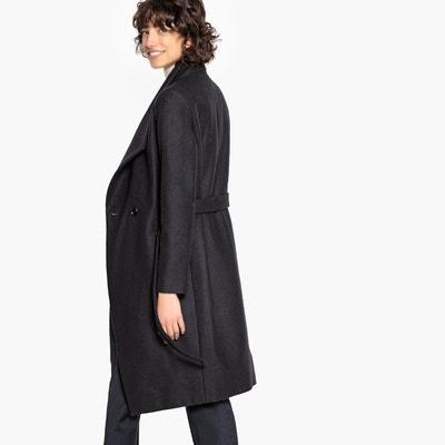 Manteau peignoir ceinturé, laine mélangée Manteau peignoir ceinturé, laine  mélangée LA REDOUTE COLLECTIONS. Soldes 4befd760af2a