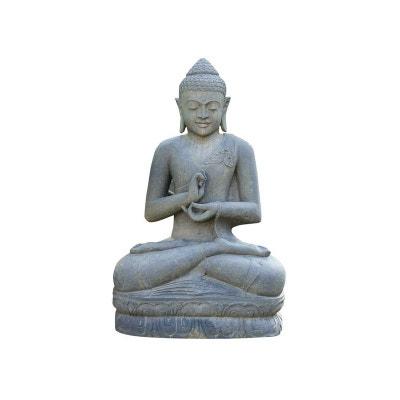 Statue Bouddha assis argumentation - hauteur 120 cm. - Pierre naturelle HABITAT ET JARDIN
