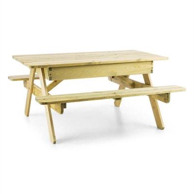 Blumfeldt Table de jeux ou pique nique pour enfants avec banc intégré - bois BLUMFELDT