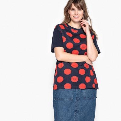 Polka Dot LogoPrint T-Shirt CASTALUNA