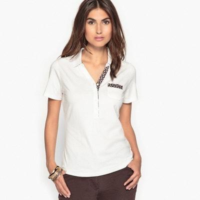 Cotton & Modal Polo Collar T-Shirt ANNE WEYBURN