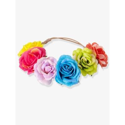 Headband fille à fleurs colorées VERTBAUDET