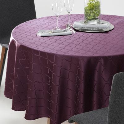 Toalha de mesa redonda Salomé, jacquard adamascado, com padrão La Redoute Interieurs