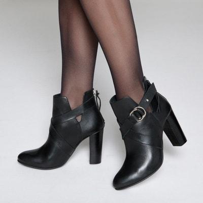 Boots en cuir à talon cut out Boots en cuir à talon cut out MADEMOISELLE R