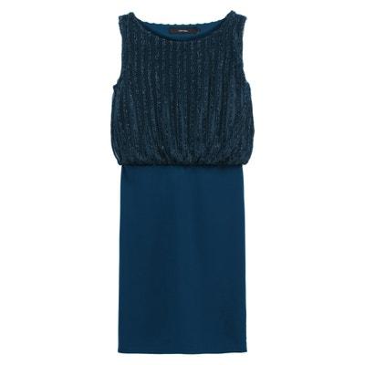 Ärmelloses Kleid mit rundem Ausschnitt und Paillettendetails Ärmelloses Kleid mit rundem Ausschnitt und Paillettendetails VERO MODA