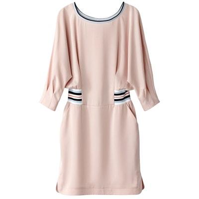 Satiniertes Kleid Sportswear, Gummizug an der Taille Satiniertes Kleid Sportswear, Gummizug an der Taille La Redoute Collections