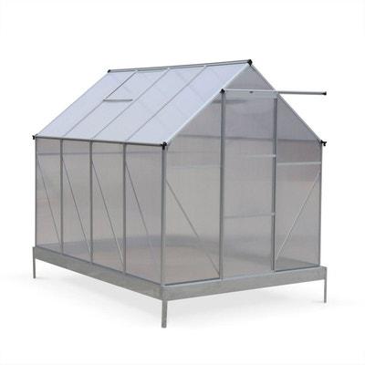 Serre de jardin CHENE en polycarbonate 5m² avec base, 2 lucarnes de toit, gouttière,  Polycarbonate 4mm Serre de jardin CHENE en polycarbonate 5m² avec base, 2 lucarnes de toit, gouttière,  Polycarbonate 4mm ALICE S GARDEN