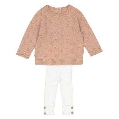 Комплект пуловер + леггинсы 1 мес - 3 года Комплект пуловер + леггинсы 1 мес - 3 года La Redoute Collections
