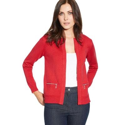 Veste rouge brique femme