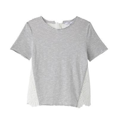 T-shirt scollo rotondo maniche corte a righe SUNCOO