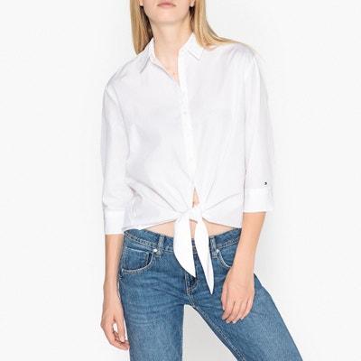 Bluse mit Knotendetail und 3/4-Ärmeln Bluse mit Knotendetail und 3/4-Ärmeln TOMMY HILFIGER
