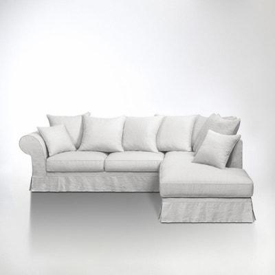 Canapé d'angle, Bultex, lin froissé, Adélia La Redoute Interieurs