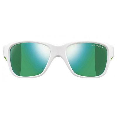 Lunettes de soleil pour enfant JULBO Blanc Turn Blanc brillant   Vert  cristal - Spectron 3 26178f1e3de1