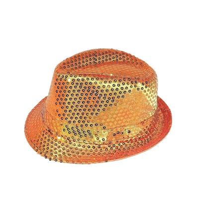 Chapeau trilby paillettes orange CHAPEAU-TENDANCE
