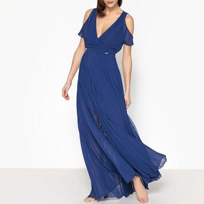 Plissiertes Abendkleid aus unifarbenem Voile Plissiertes Abendkleid aus unifarbenem Voile LIU JO