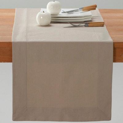 Border Linen and Cotton Table Runner La Redoute Interieurs
