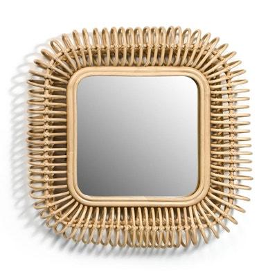 Miroir rotin carré L55 x H55 cm, Tarsile Miroir rotin carré L55 x H55 cm, Tarsile AM.PM