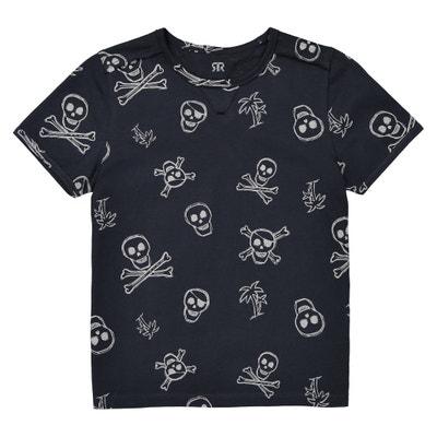 Camiseta con cuello redondo y calaveras 3-12 años Camiseta con cuello redondo y calaveras 3-12 años La Redoute Collections