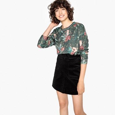 Bluza, kwiatowy nadruk, okrągły dekolt Bluza, kwiatowy nadruk, okrągły dekolt PEPE JEANS