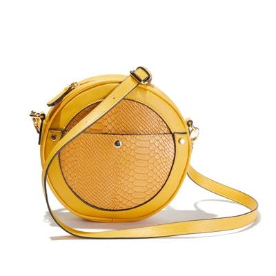 Circle Clutch Bag with Tassel Trim Circle Clutch Bag with Tassel Trim La Redoute Collections