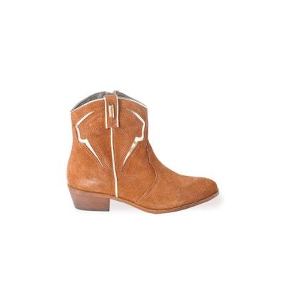 Texas Leather Ankle Boots LES TROPEZIENNES PAR M.BELARBI