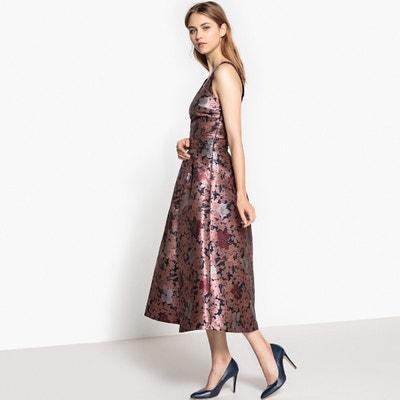 Sukienka midi z kwiecistej tkaniny żakardowej MADEMOISELLE R