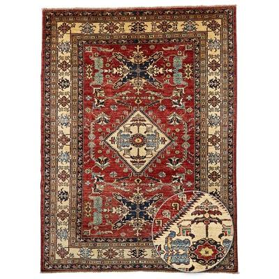 tapis dorient nou main kazak 47 teinture vegetale laine un amour de tapis - Tapis Oriental Rouge