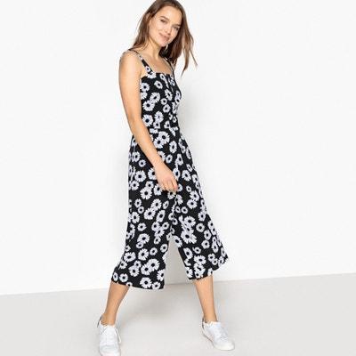 Wide Leg Daisy Print Scuba Jumpsuit MADEMOISELLE R
