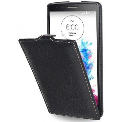 Etui LG G3s UltraSlim en cuir véritable noir - Stilgut Etui LG G3s UltraSlim  en cuir 90cc3f964485