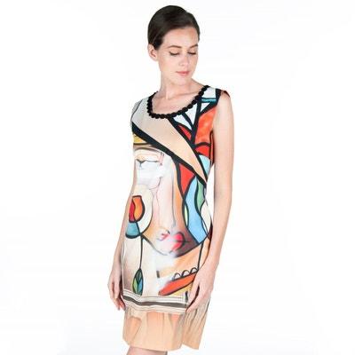 da25a9e584b9f Robe ajustée imprimé style Miro POUSSIERE D ETOLE