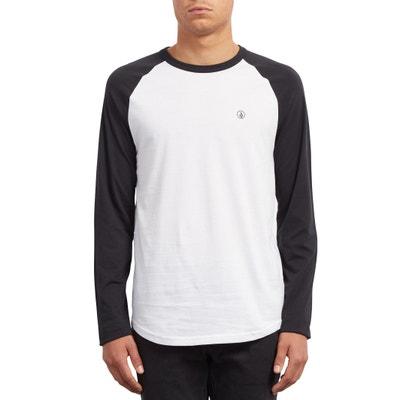 Camiseta con cuello redondo de manga larga, estampada delante Camiseta con cuello redondo de manga larga, estampada delante VOLCOM