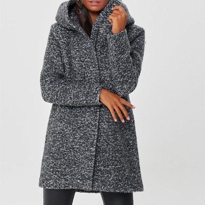 Manteau long en bouclette avec capuche ONLY 967317b9744c