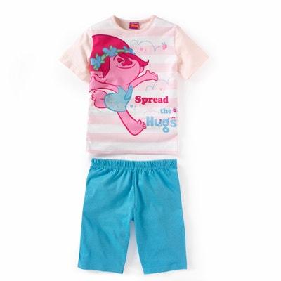 Pijama curto estampado, 2 - 12 ans TROLLS