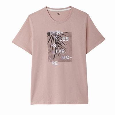 T-shirt met ronde hals en motief vooraan La Redoute Collections