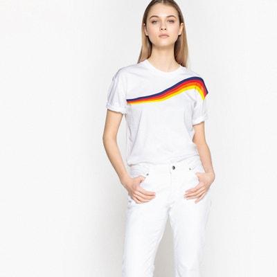 T-shirt estampada, gola redonda, mangas curtas La Redoute Collections