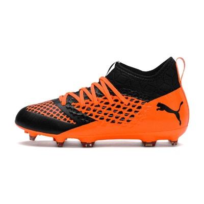 2e8983309889c Chaussures football Puma Future 2.3 Netfit FG AG Orange Noir Junior Chaussures  football Puma