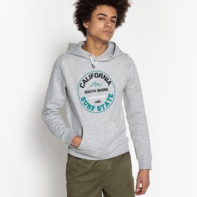 Kapuzensweatshirt, Sweatware, bedruckt, 10-16 Jahre La Redoute Collections