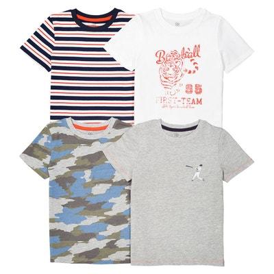 Lot de 4 t-shirts 3-12 ans La Redoute Collections
