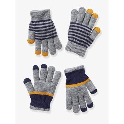 868adda38d8 Lot de 2 paires de gants garçon VERTBAUDET