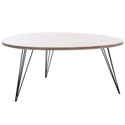 Table de salon retro bois/metal naturel/ Table de salon retro bois/metal naturel/ JOLIPA